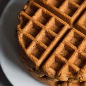 Gluten-free vegan gingerbread waffles