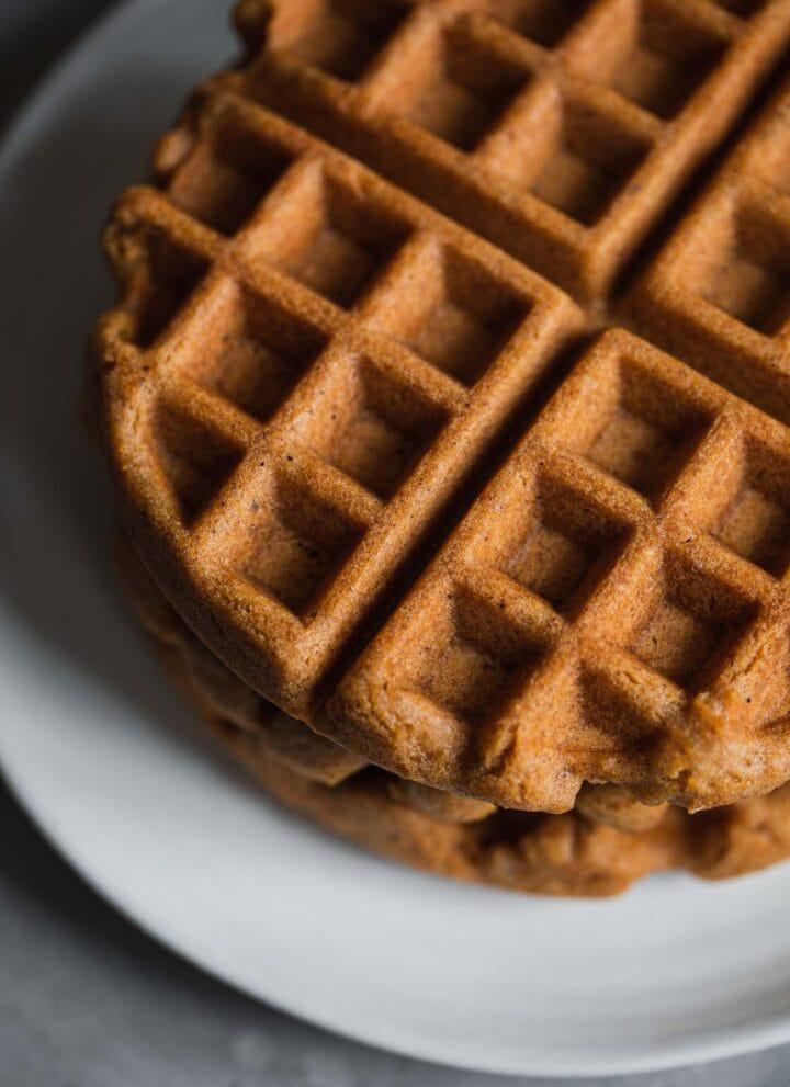 Gluten-free waffles on a plate