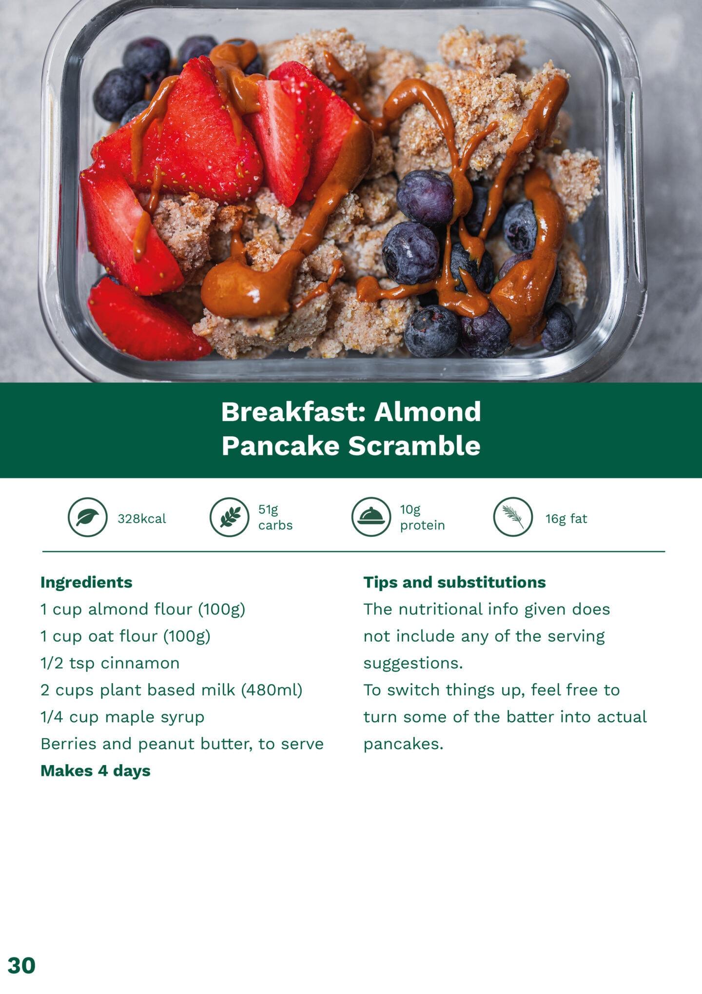 Almond pancake scramble