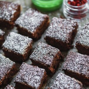 Vegan Peppermint Brownies (Gluten-free)