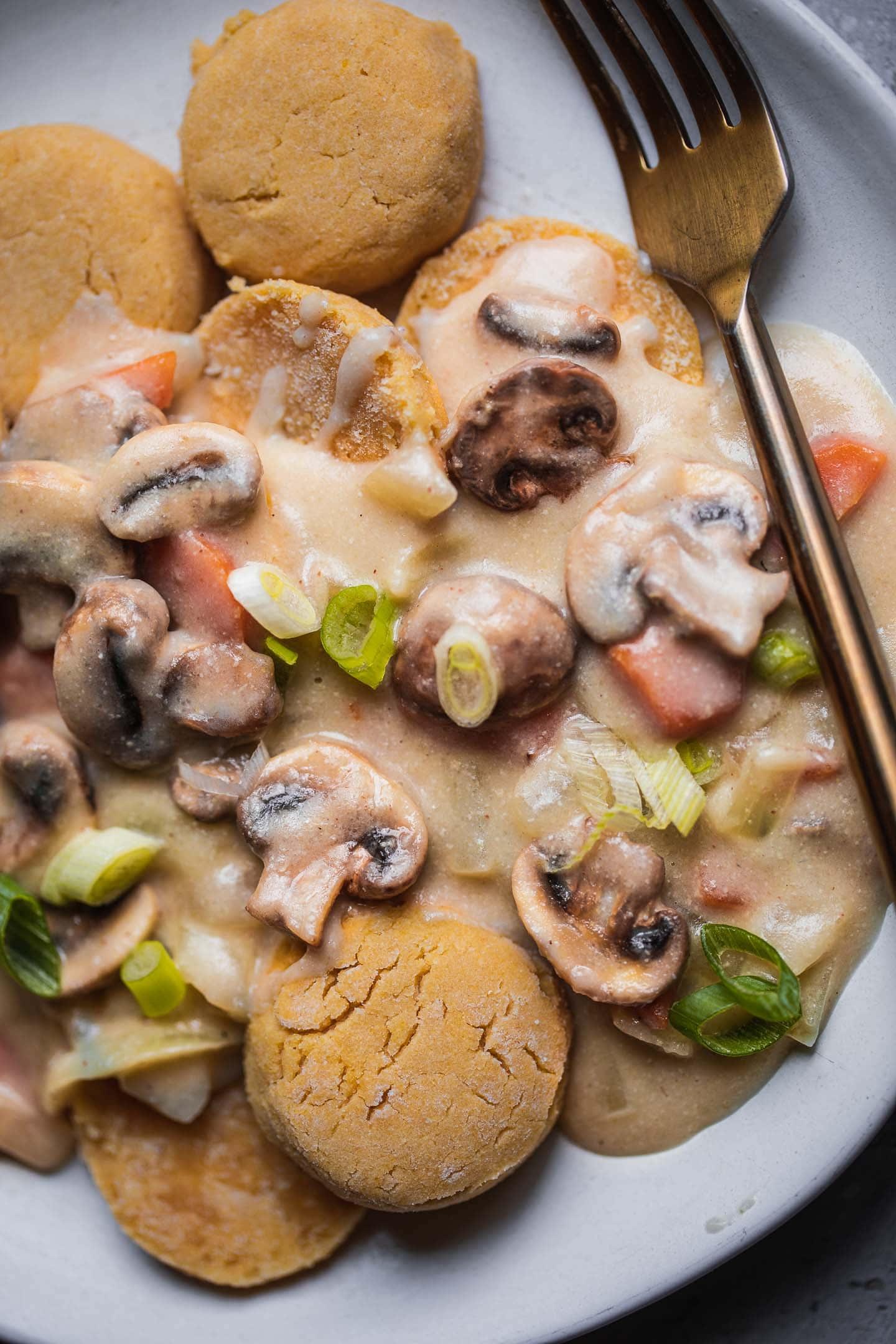Vegan biscuits and gravy gluten-free
