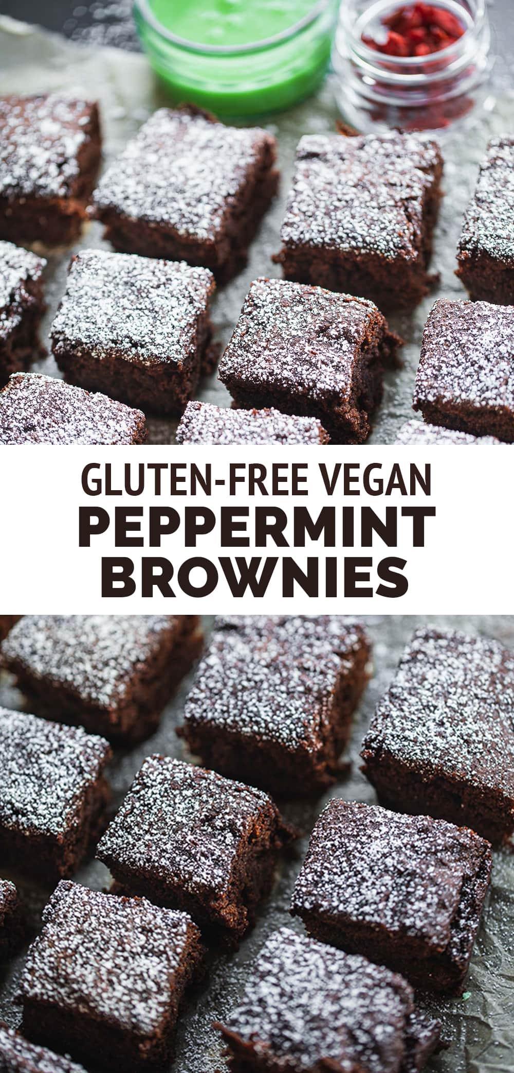 Vegan peppermint brownies gluten-free