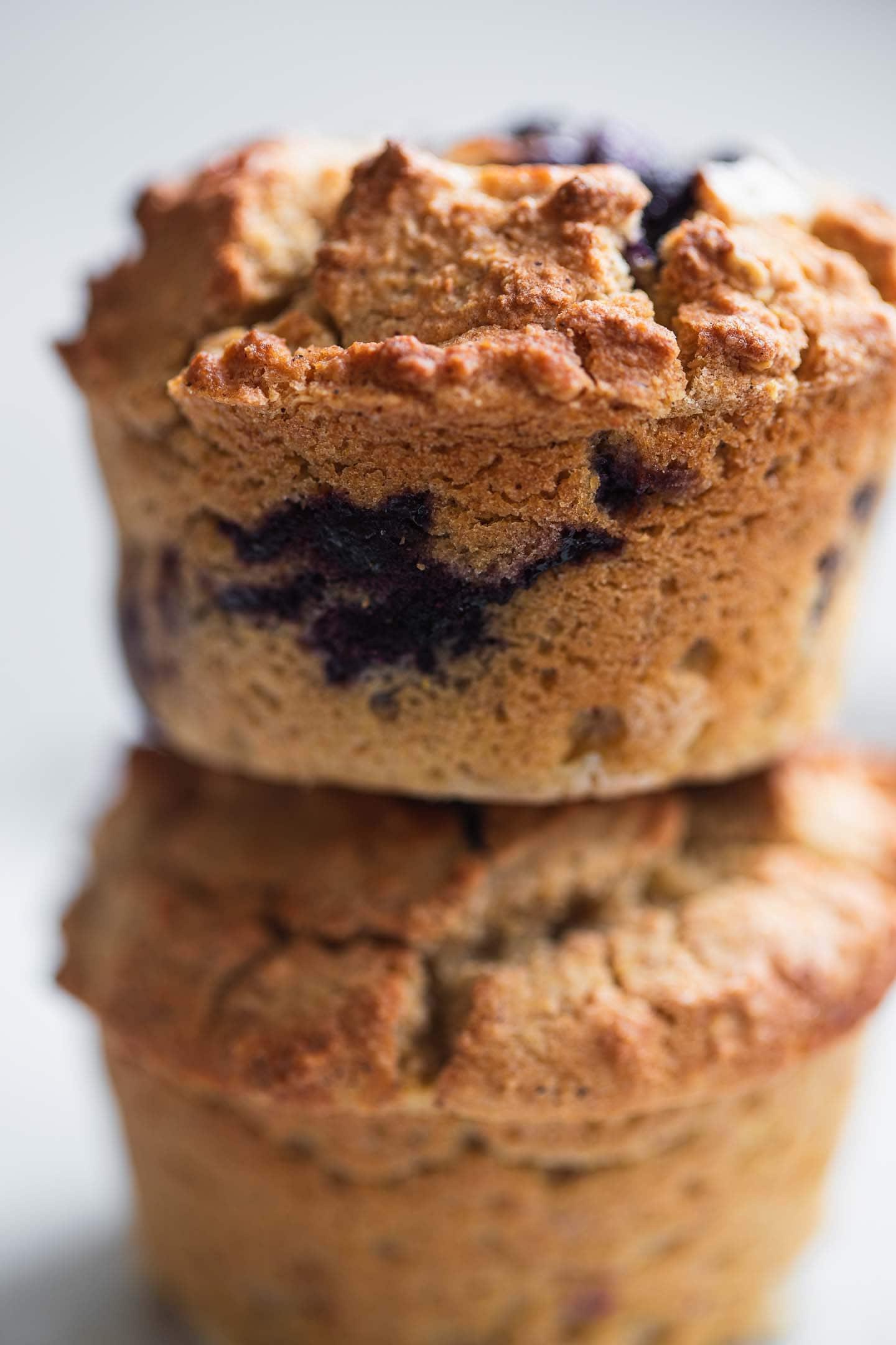 Closeup of vegan muffins on a plate