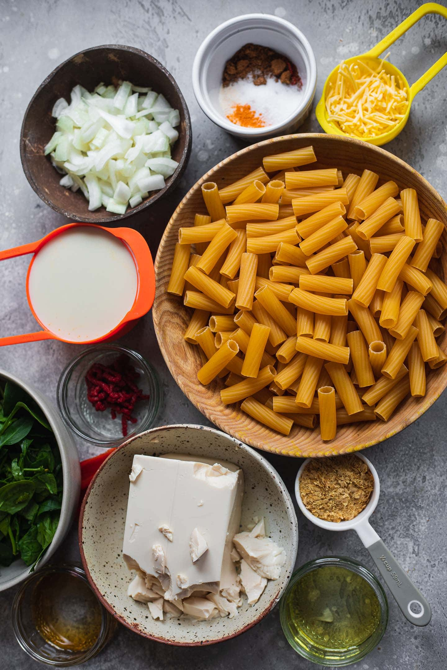 Ingredients for butternut squash pasta