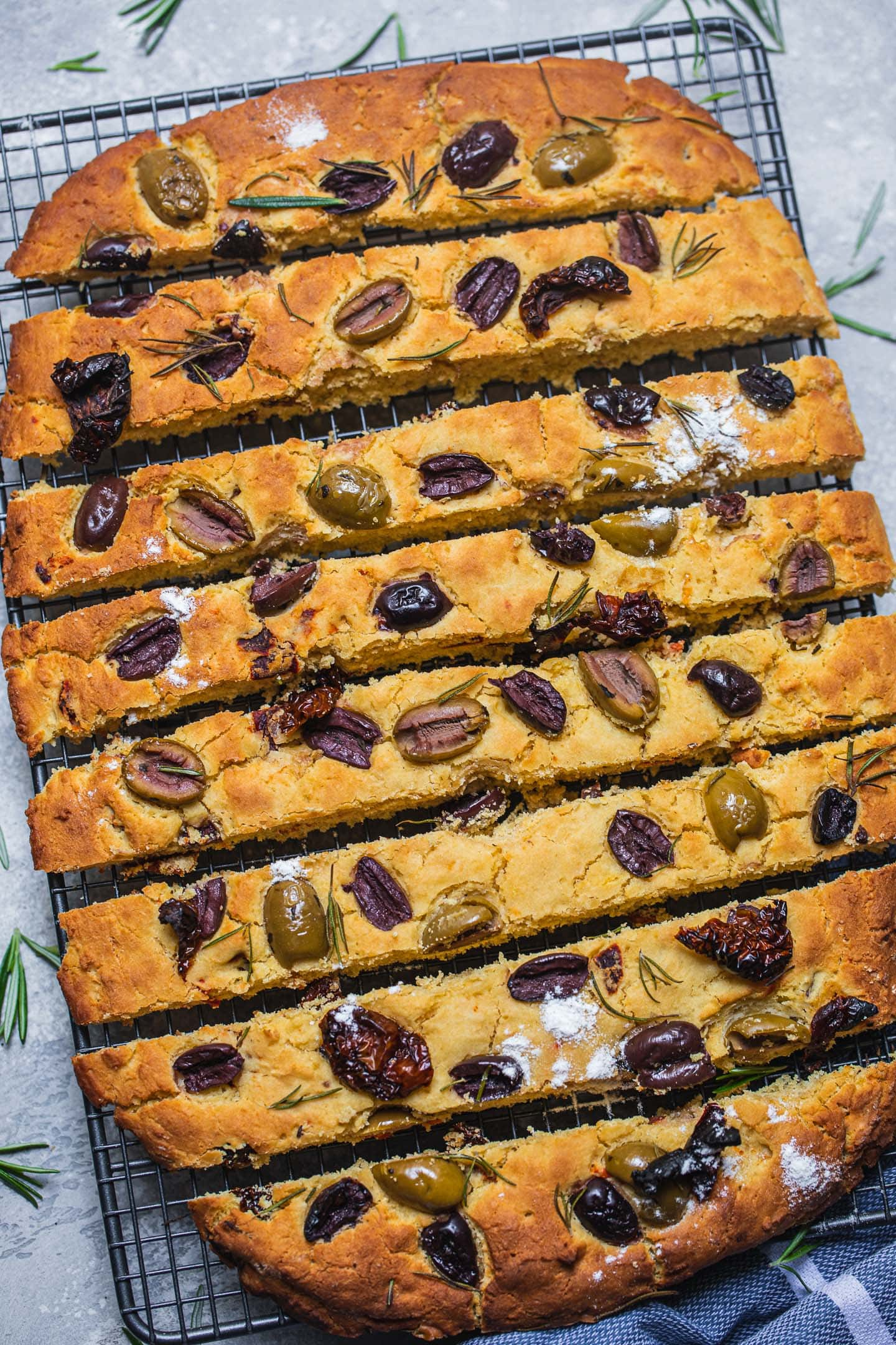 Olive and rosemary focacccia
