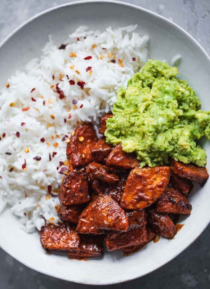 Vegan BBQ Tempeh (Gluten-free)