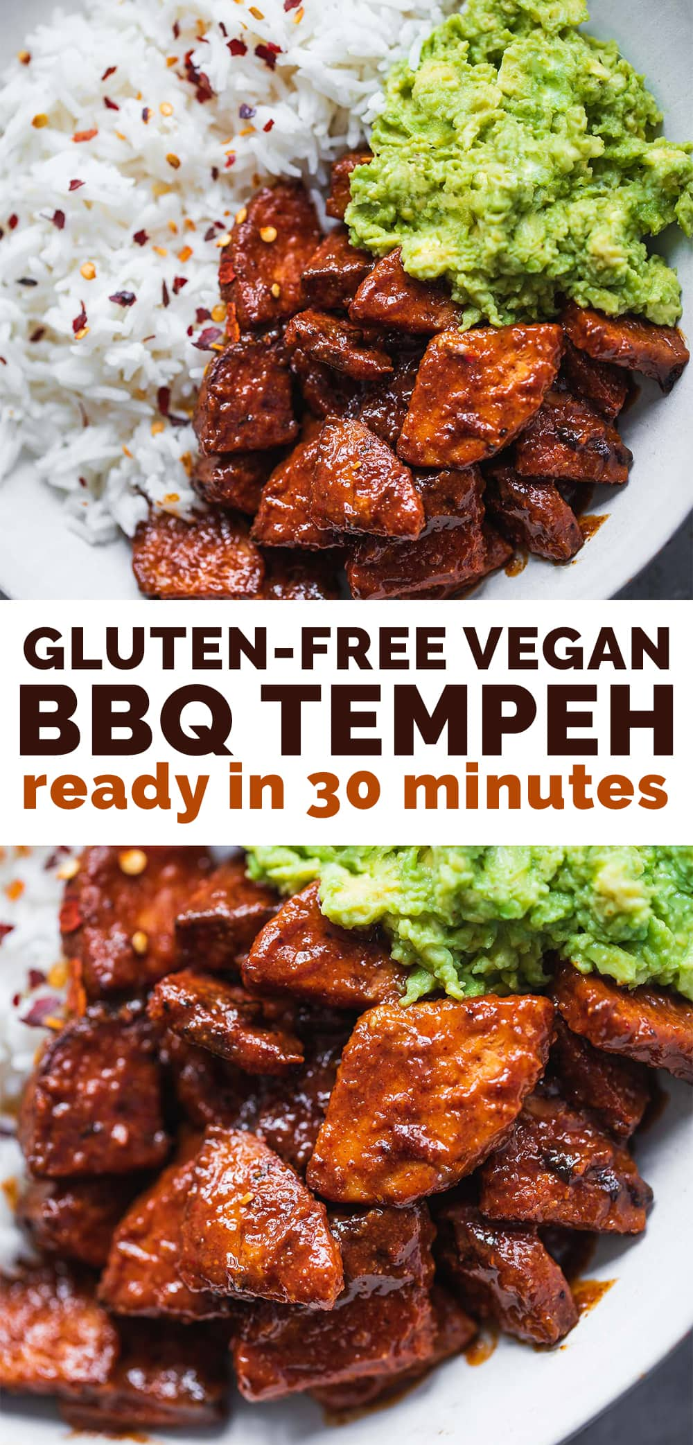 Vegan BBQ tempeh gluten-free