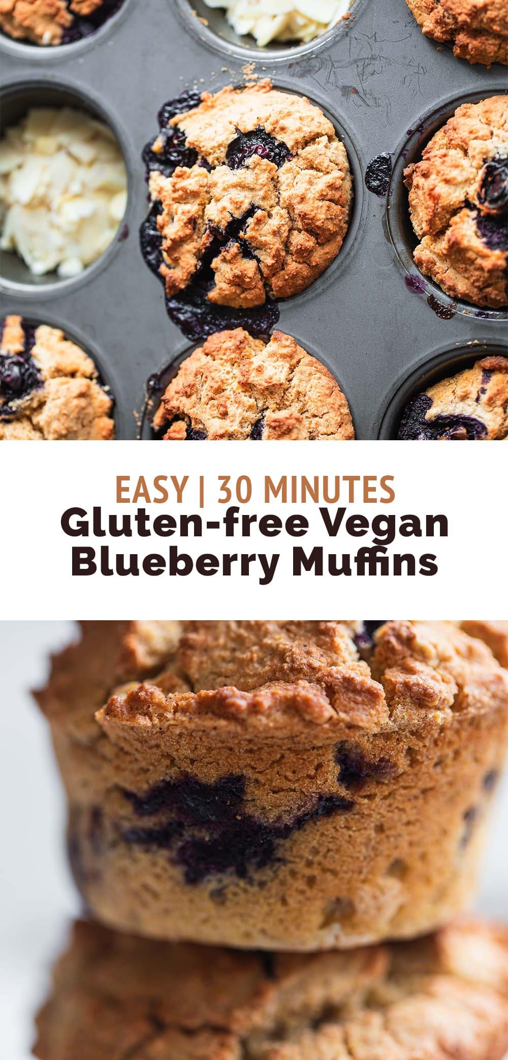 Vegan blueberry muffins gluten-free