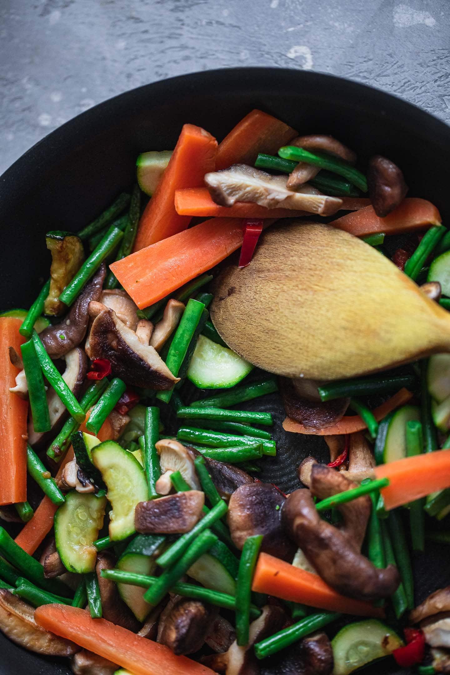 Vegetables in a pan 2