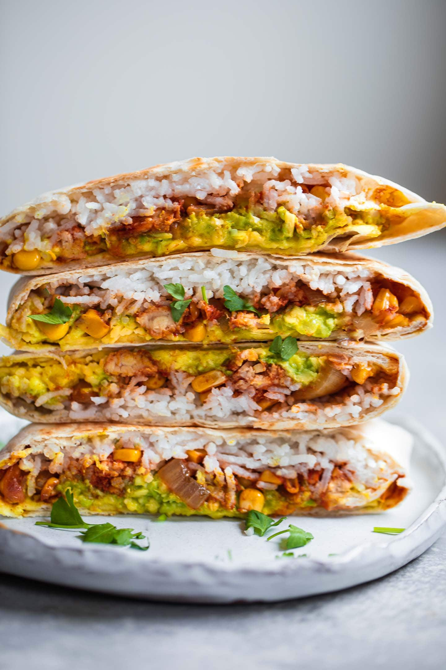 Crunchwrap Supreme with tempeh and dairy-free nacho cheese