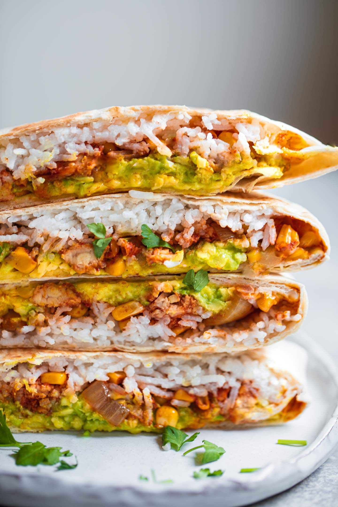 Crunchwrap with tempeh and vegan nacho cheese