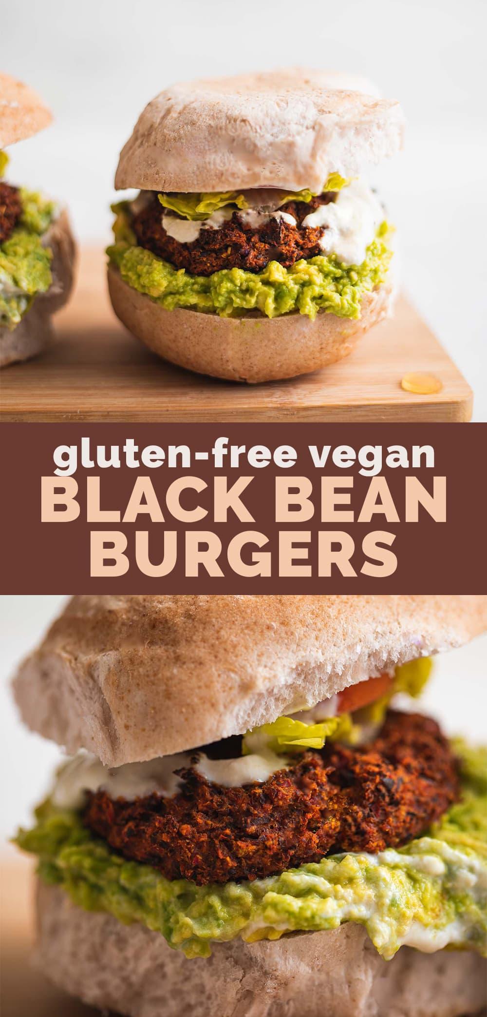 Gluten-free vegan black bean burgers