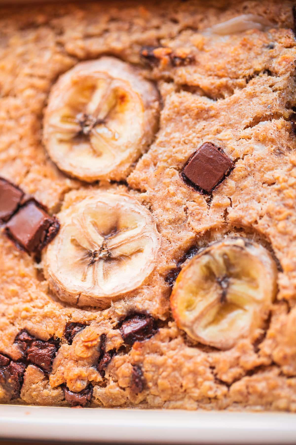 Vegan Banana Bread Baked Oatmeal-8