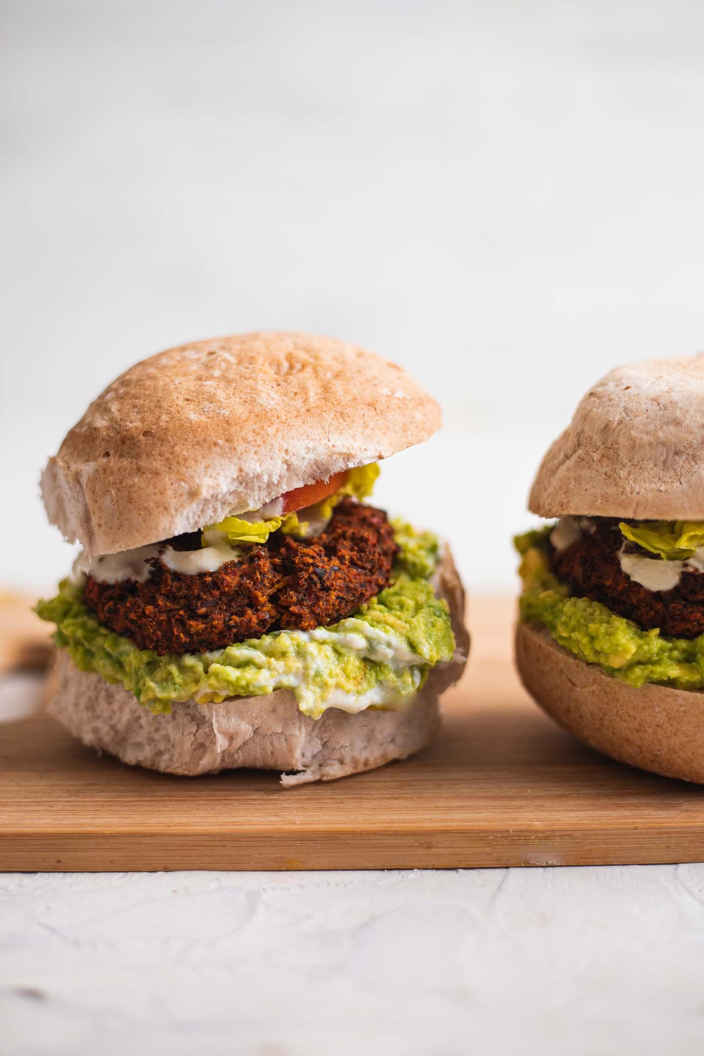 Vegan black bean burgers gluten-free