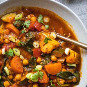 Vegan chickpea stew gluten-free