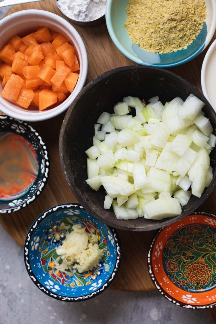 Ingredients for vegan carbonara