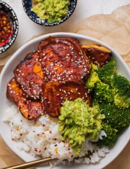 Vegan miso-glazed tofu steaks-6