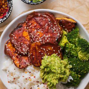 Vegan miso-glazed tofu steaks-6
