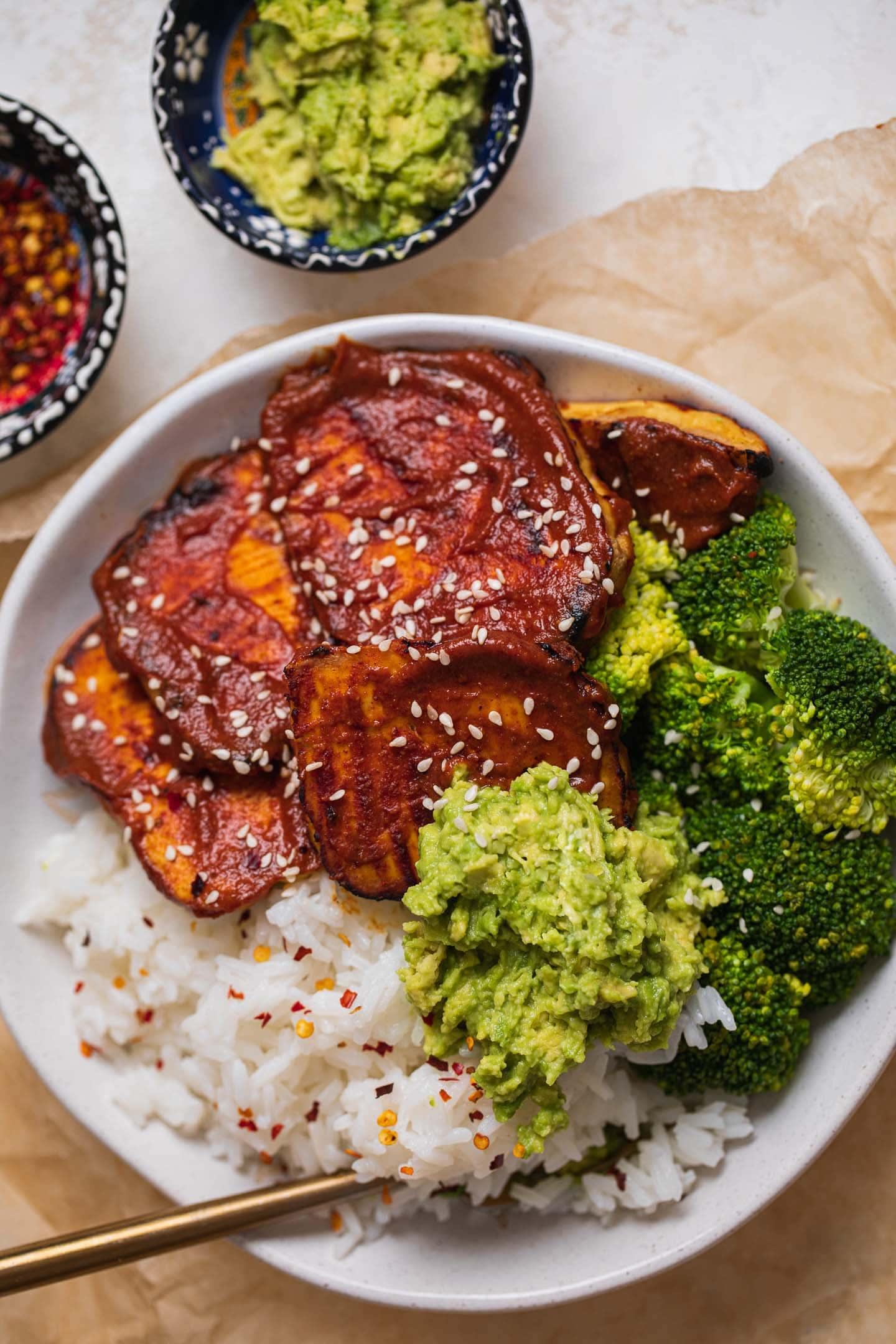 Vegan miso-glazed tofu steaks