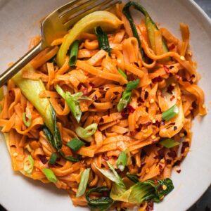 Chilli garlic noodles vegan