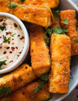 Crispy zucchini fries recipe vegan