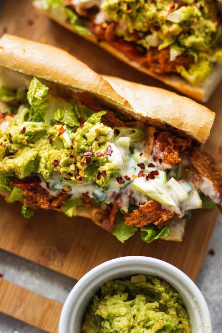 Vegan chicken sandwich