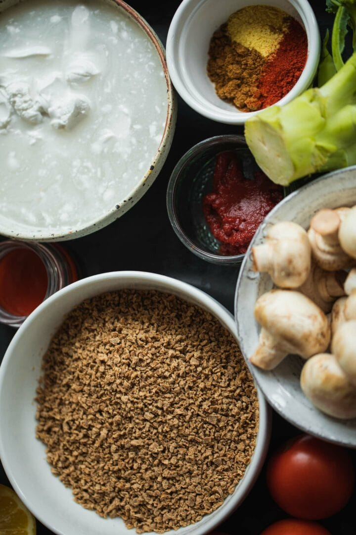 Ingredients for a vegetable stew
