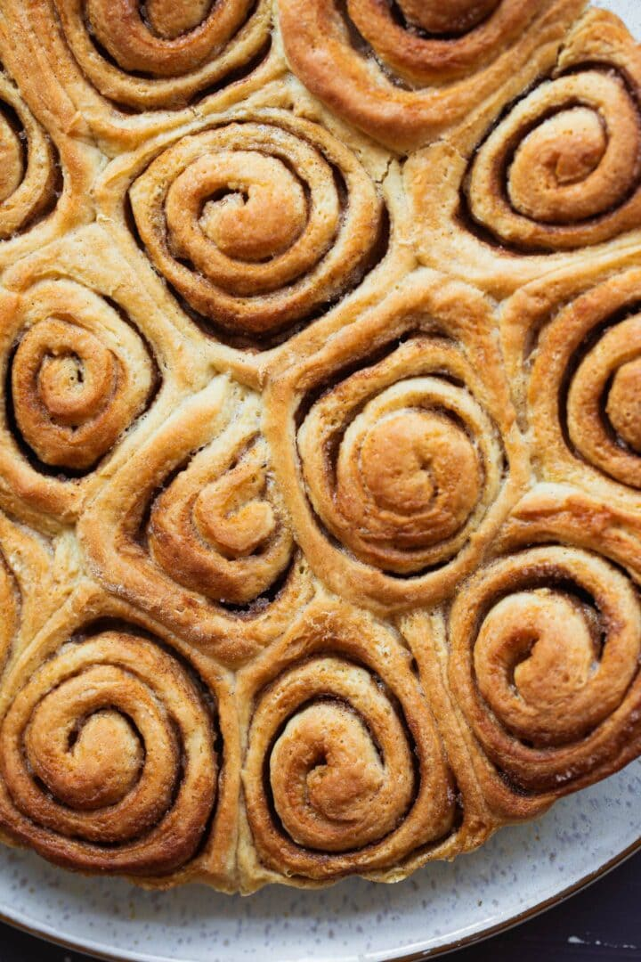 Cinnamon roll dough with sugar