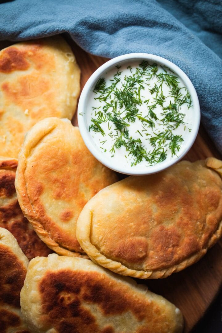 Dairy-free cheese and dill pastries