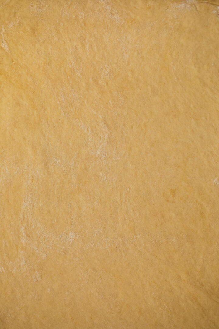 Sheet of vegan dough