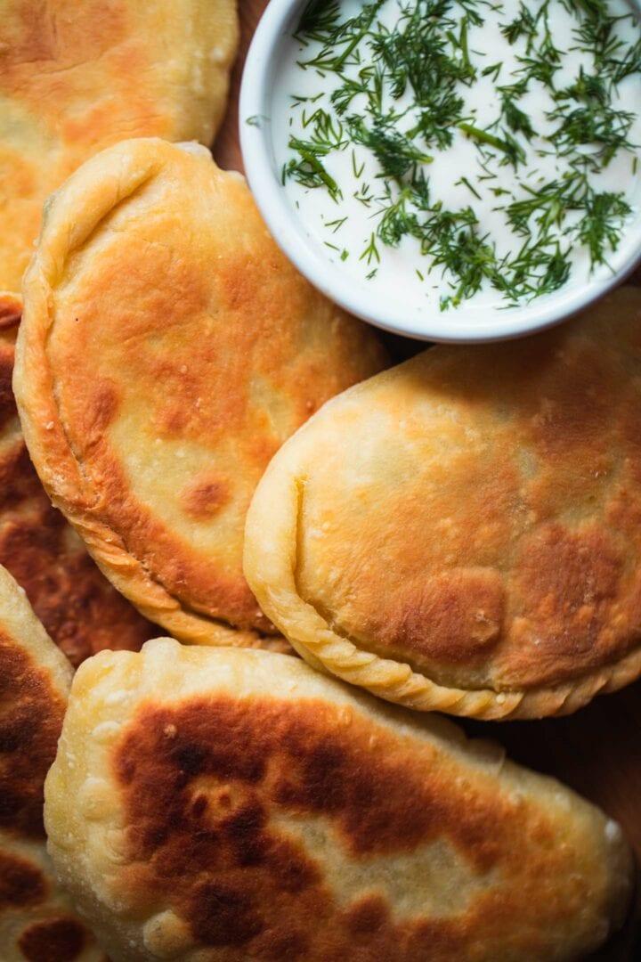Vegan piroshki with cheese