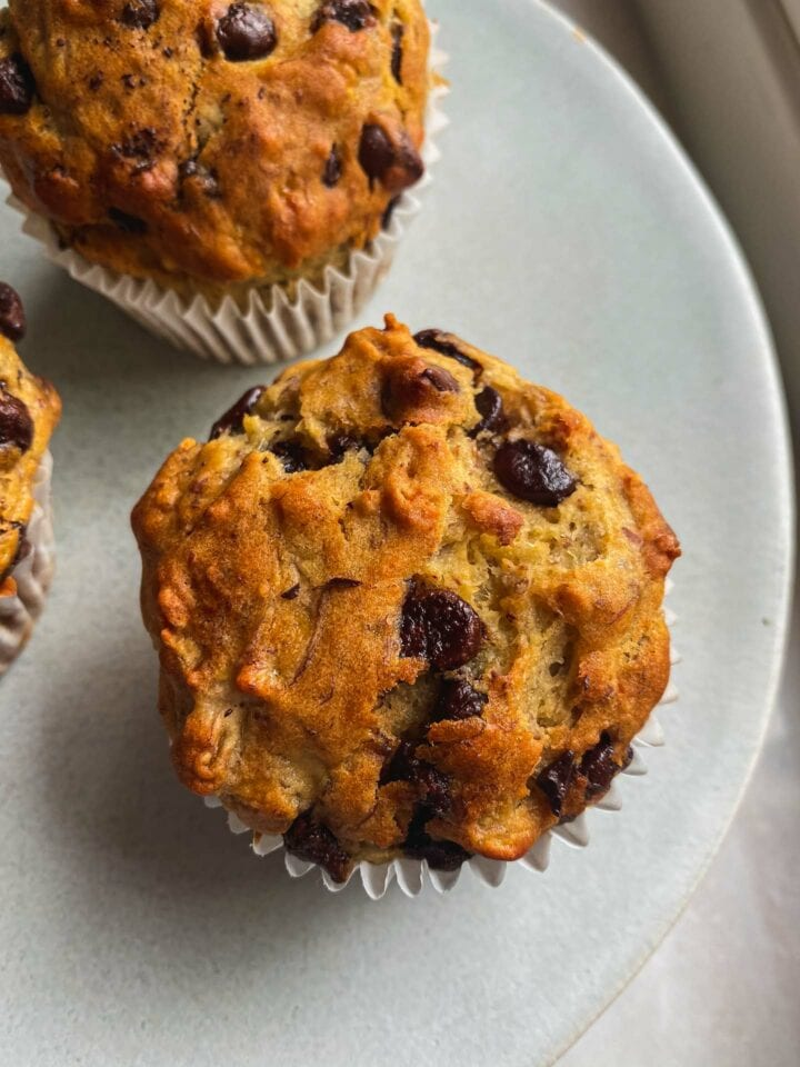 Dairy-free banana bread muffins