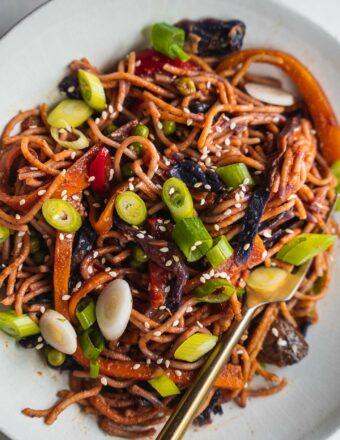 Vegan vegetable spaghetti gluten-free 2