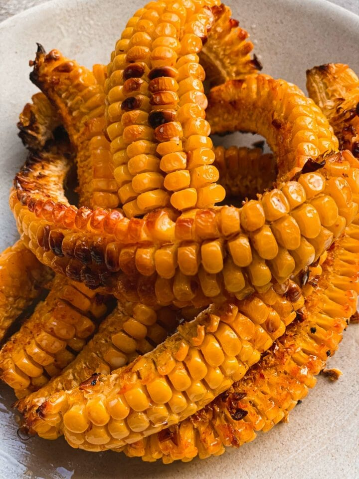 Garlic butter corn ribs vegan
