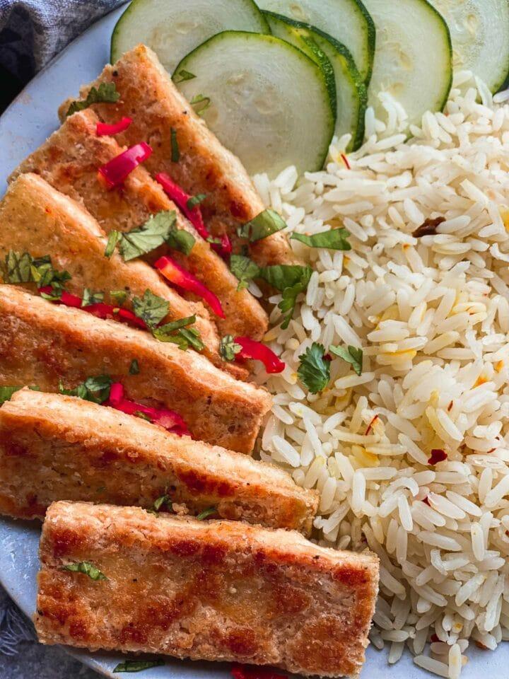 Salt and pepper tofu vegan