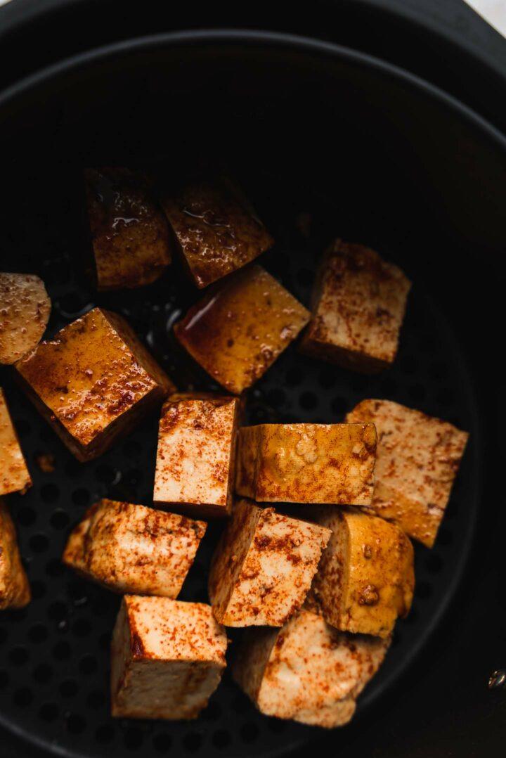 Tofu in an air fryer