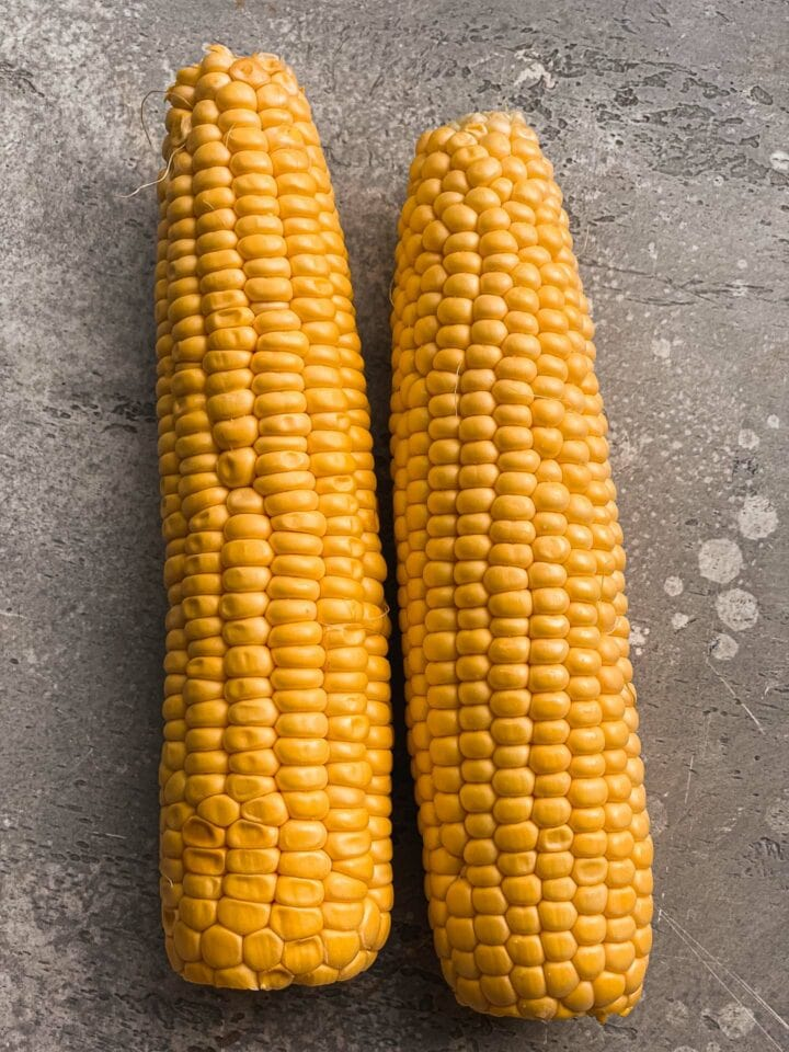 Two corn on the cob