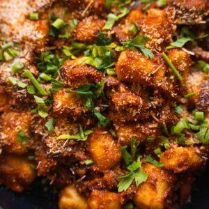 Vegan gnocchi bake recipe with oyster mushrooms