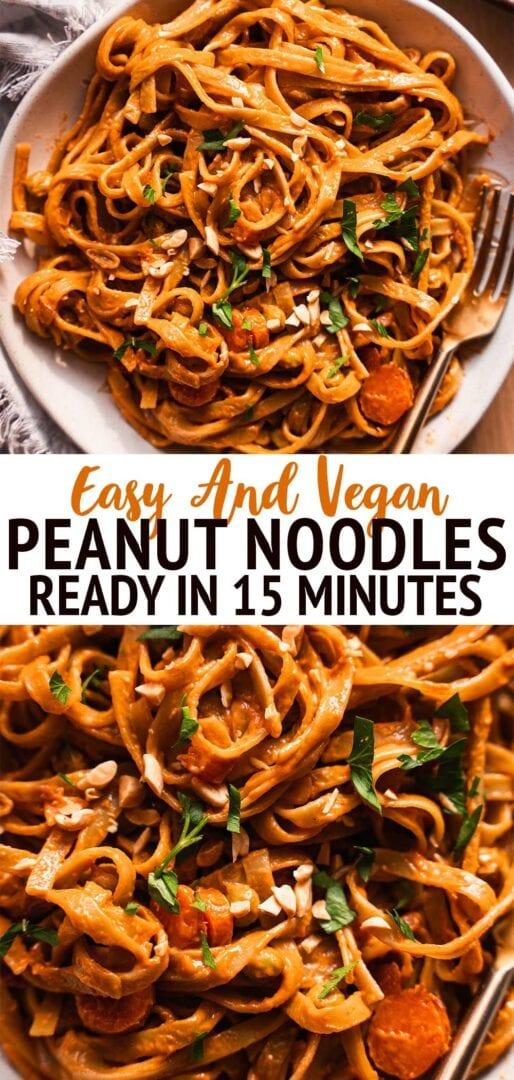 Vegan peanut butter noodles