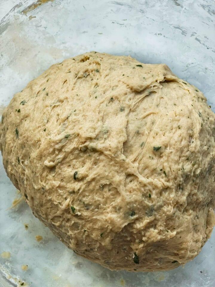 Bread dough in a bowl