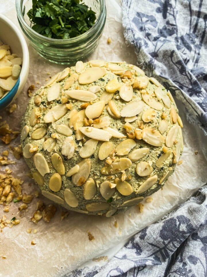Garlic and herb vegan cheese