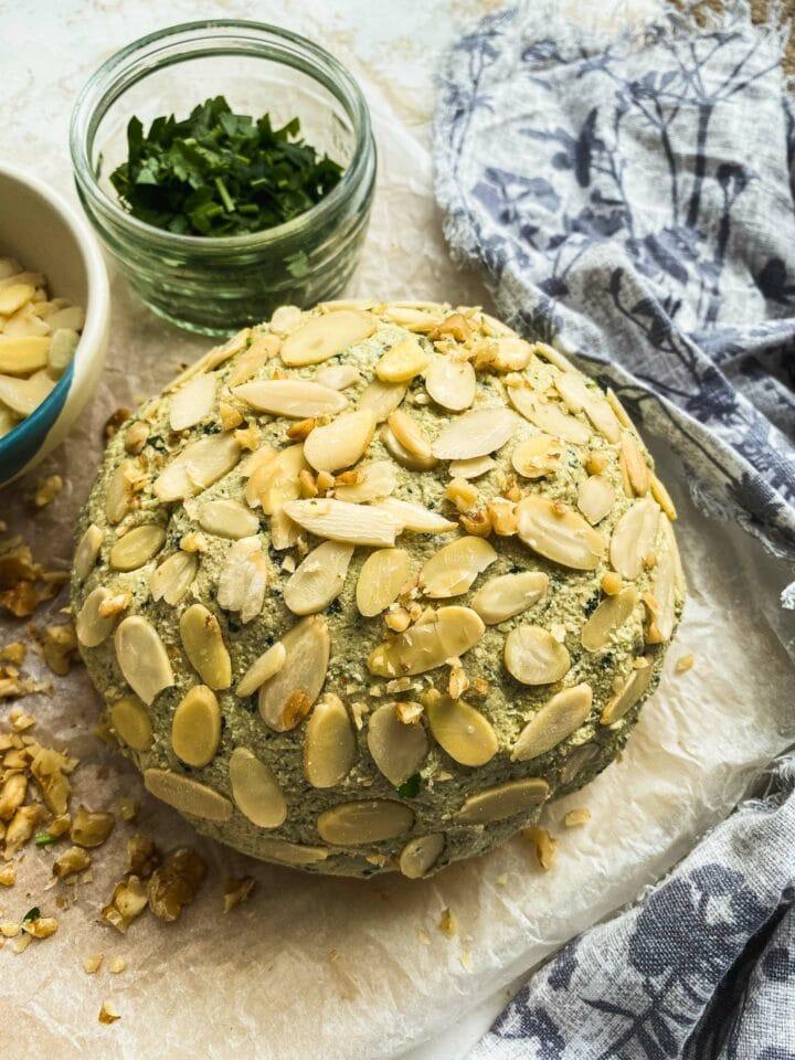 Garlic and herb vegan cheese recipe