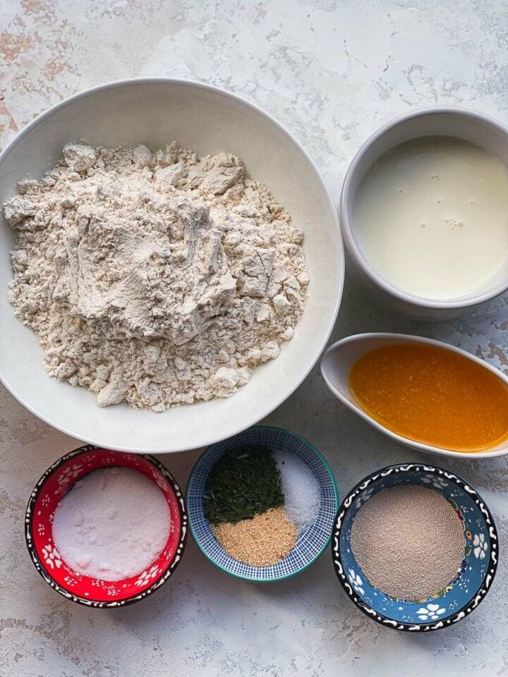 Ingredients for skillet bread