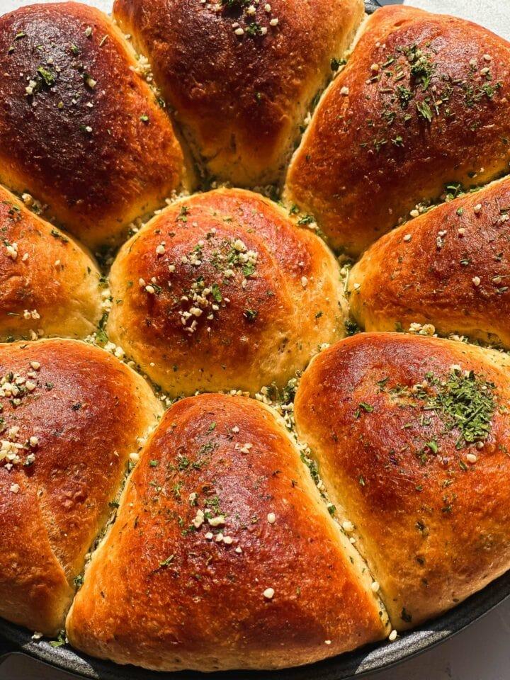 Olive oil skillet bread vegan