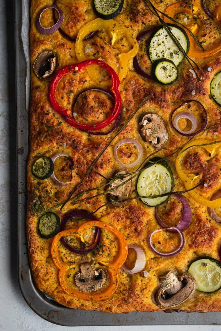 Pumpkin focaccia recipe vegan