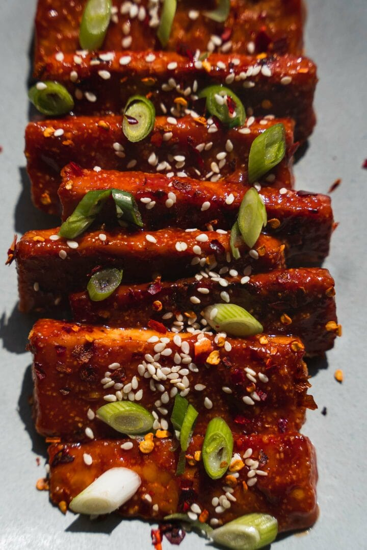 Tempeh in a spicy sauce