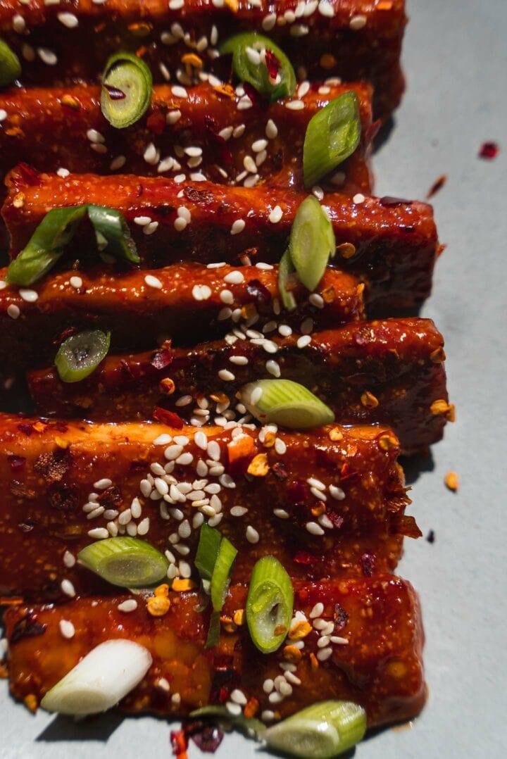 Tempeh vegan ribs
