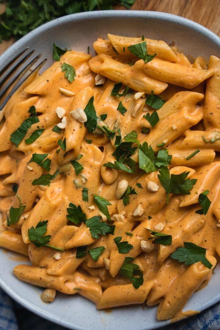 Vegan sweet potato pasta recipe