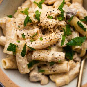 Hummus pasta recipe